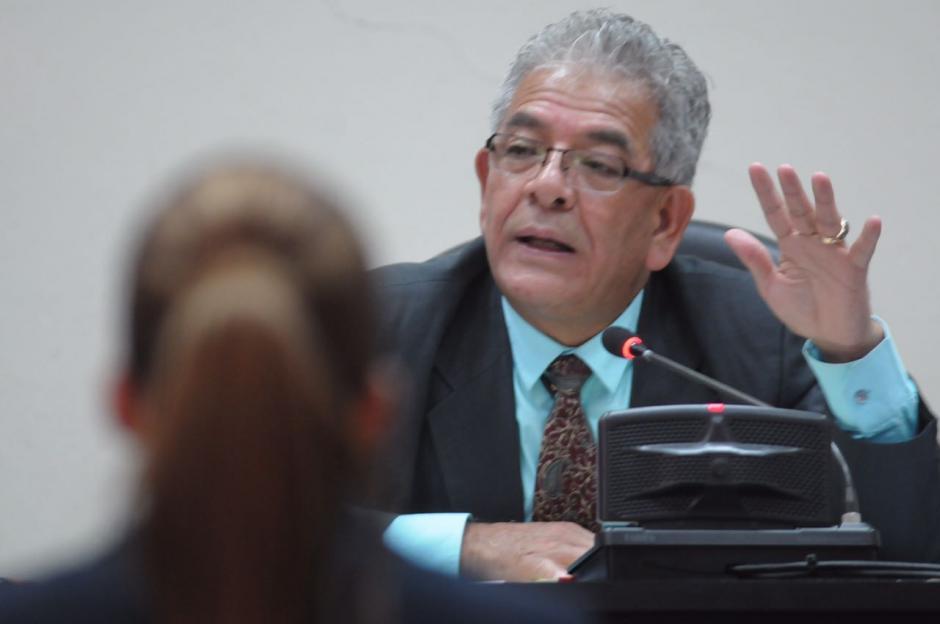 El juez Gálvez escuchó la ampliación de la declaración de Beltranena. (Foto: Jesús Alfonso/Soy502)