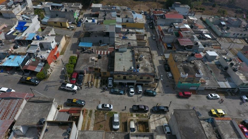 Con esta vista logran determinar salidas de emergencia y otras acciones de los delincuentes. (Foto: PNC)