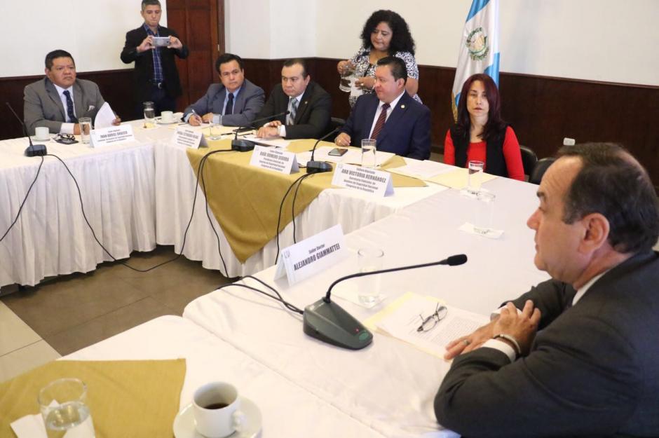Los integrantes de la Comisión de Seguridad Nacional analizarán la propuesta de Giammattei. (Foto: cortesía José Castro)