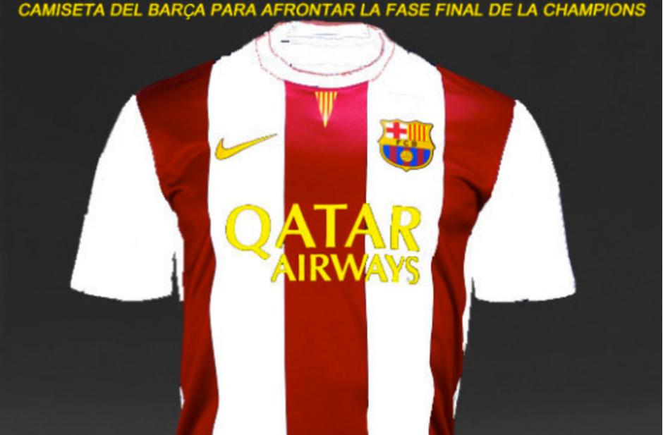 Esta sería la camisola del Barça en las semis. (Foto: MemeDeportes)