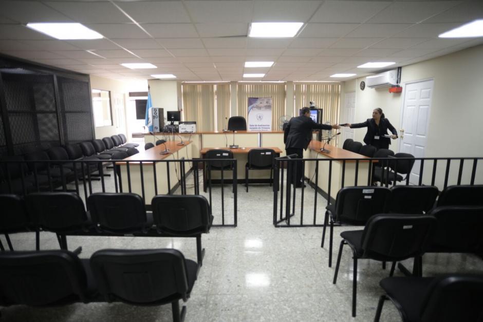 Aunque ya estaba en uso, se hizo la inauguración oficial de la sala de audiencias del Juzgado de Mayor Riesgo C. (Foto: Wilder López/Soy502)
