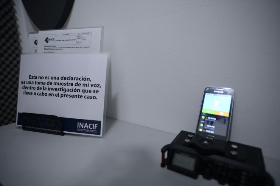 El primer paso será tomar una muestra de la voz de los presuntos participantes. (Foto: Wilder López/Soy502)