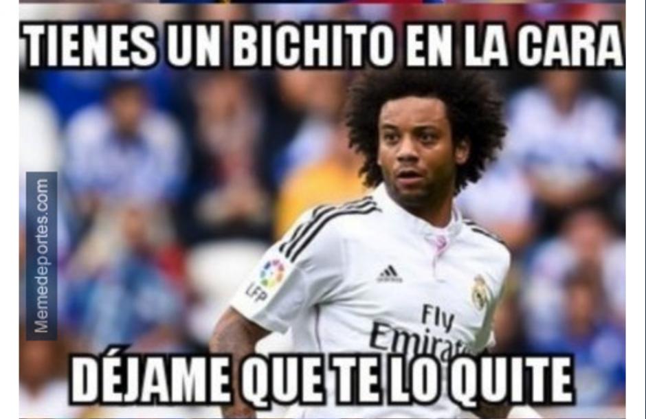 Las redes sociales reaccionaron al golpe de Mercelo a Messi. (Foto: MemeDeportes)