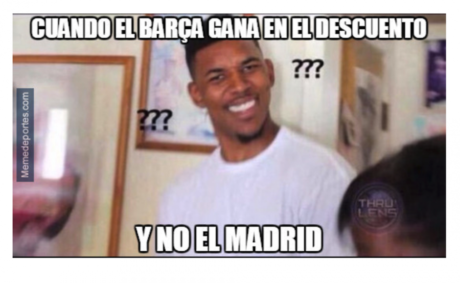 Todos los aficionados del Madrid esperaban el gol al minuto 93 de Ramos. (Foto: MemeDeportes)