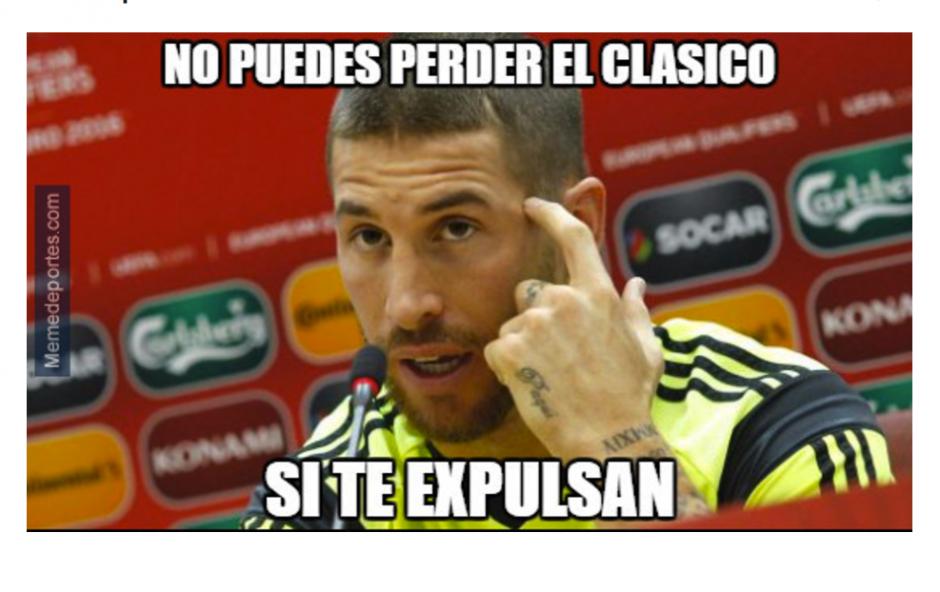 Sergio Ramos fue expulsado en la segunda parte. (Foto: MemeDeportes)