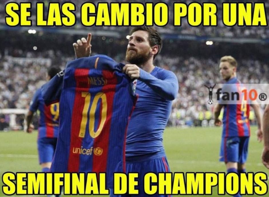 """Sin embargo, esta inusual celebración de Messi fue blanco de """"memes"""". (Foto: Twitter)"""
