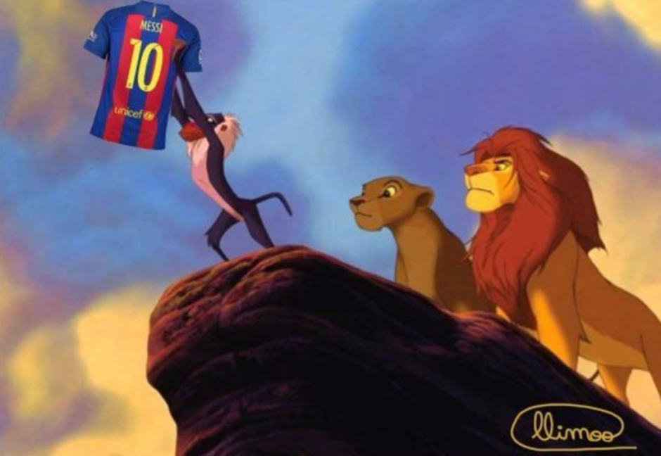 Messi festejó de una forma inusual y las redes se mofaron de esta acción. (Foto: Twitter)