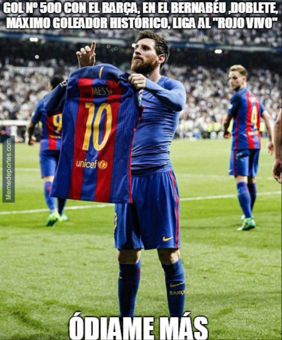 Hizo esto para que el Bernabéu recordara que había anotado su gol 500 en ese estadio. (Foto: Twitter)