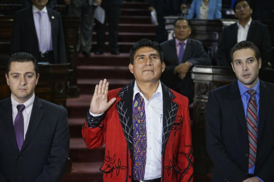 Cruz Gómez Raymundo fue juramentado este martes. (Foto: Wilder López/Soy502)