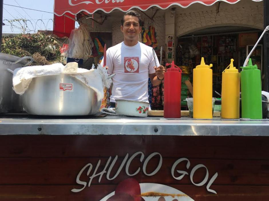 ShucoGol es la marca del futbolista Angelo Padilla.  (Foto: Luis Barrios/Soy502)