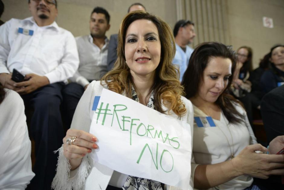 Zury Ríos es una de las principales figuras políticas que se oponen a las reformas. (Foto: Wilder López/Soy502)