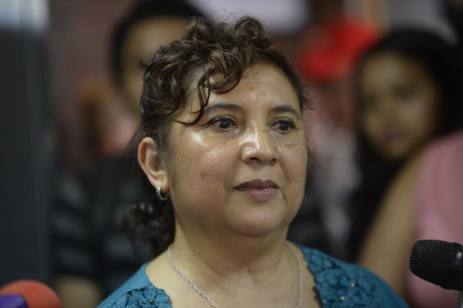 Blanca Rosa de Pozuelos es la nueva directora de la escuela, cargo del que se le informó el miércoles por la noche. (Foto: Wilder López/Soy502)