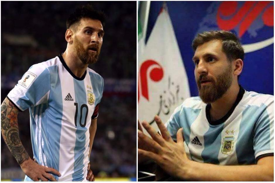 Reza Parastesh (derecha) es muy idéntico a Lionel Messi. (Foto: Mehr News Agency)