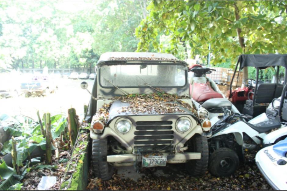El Jeep de Byron Lima que se encontró en su casa de playa. (Foto: MP)