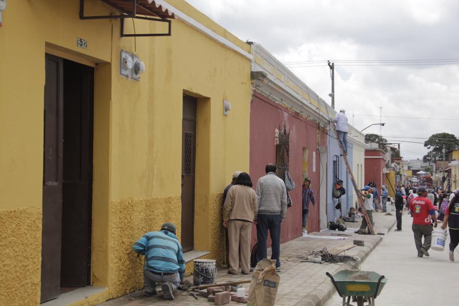 Los trabajos incluyen cambio de pintura en todas las casas de ese sector. (Foto: Fredy Hernández/Soy502)