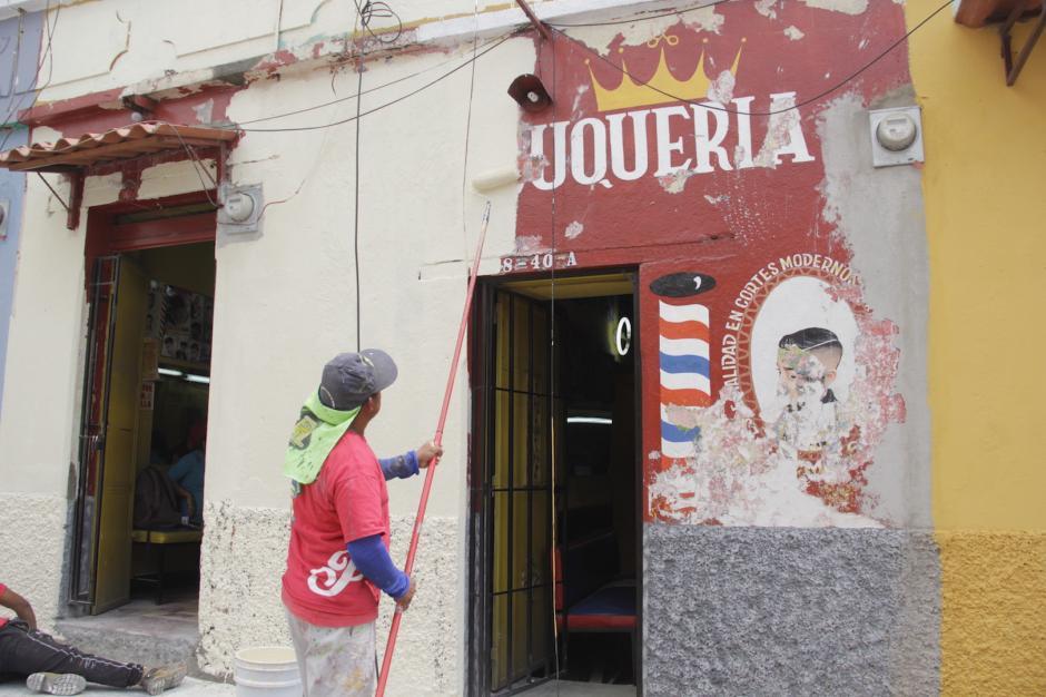 La pintura que se utiliza es de estilo colonial. (Foto: Fredy Hernández/Soy502)