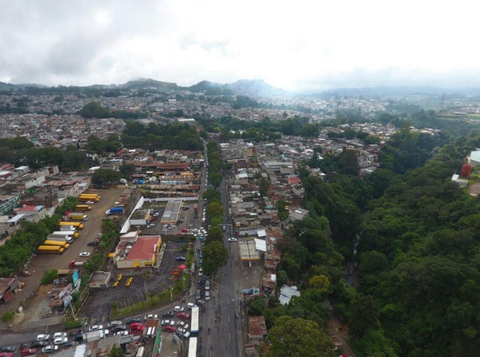 El tráfico lento en el sector fue lento toda la mañana. (Foto: Amilcar Montejo/PMT)