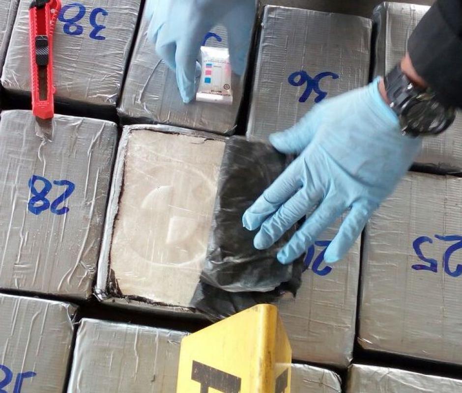 De acuerdo con las autoridades el destino final de la droga era la zona 10 capitalina.  (Foto: PNC)