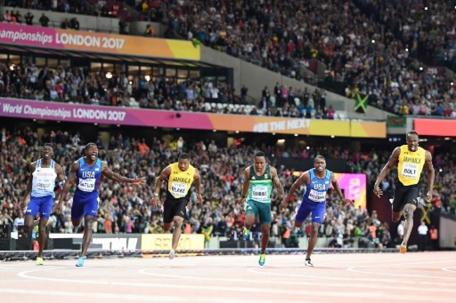 Usain Bolt corrió su última prueba de 100 metros planos. (Foto: AFP)