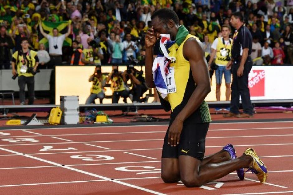 Bolt no pudo ganar la prueba de 100 metros planos en el Mundial de Londres 2017. (Foto: AFP)