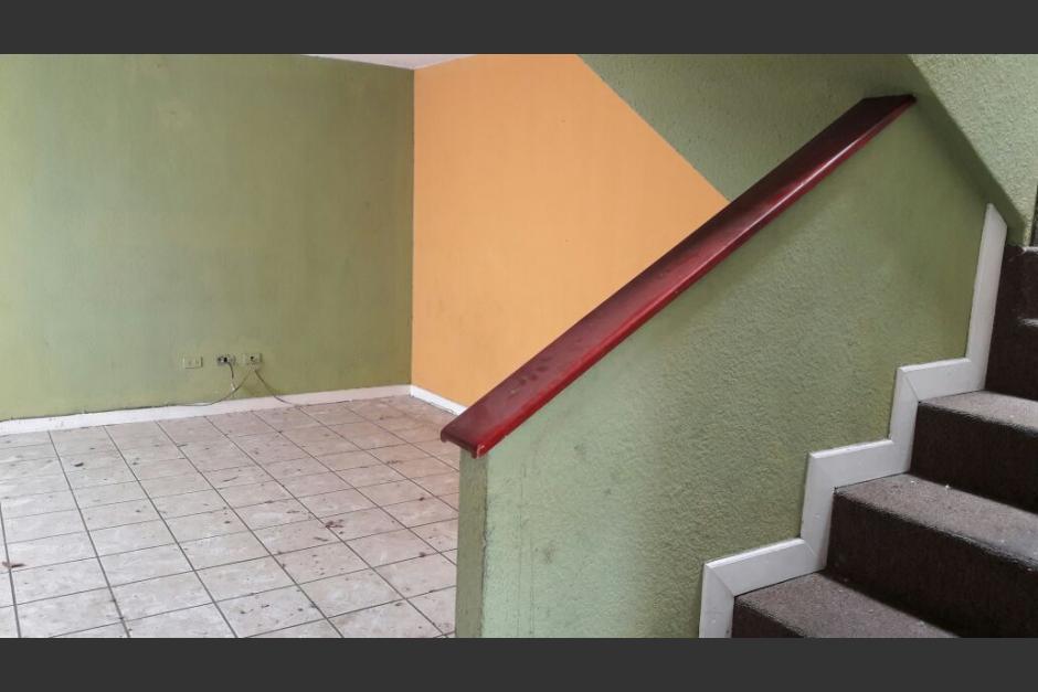 Este es el interior de la propiedad ubicada en la finca El Zapote en la zona 2 capitalina. (Foto: Ministerio Público).