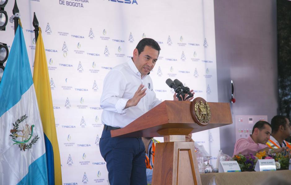 El presidente, Jimmy Morales, ofreció una palabras en el evento. (Foto: Víctor Xiloj/Soy502)