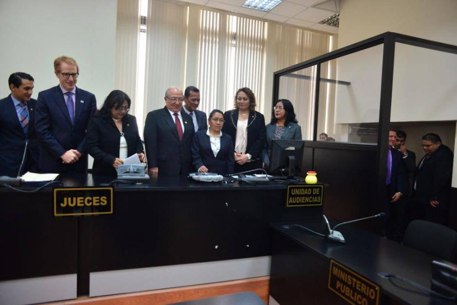 El día de la inauguración del Juzgado y del Tribunal de Mayor Riesgo D. (Foto: archivo/Soy502)