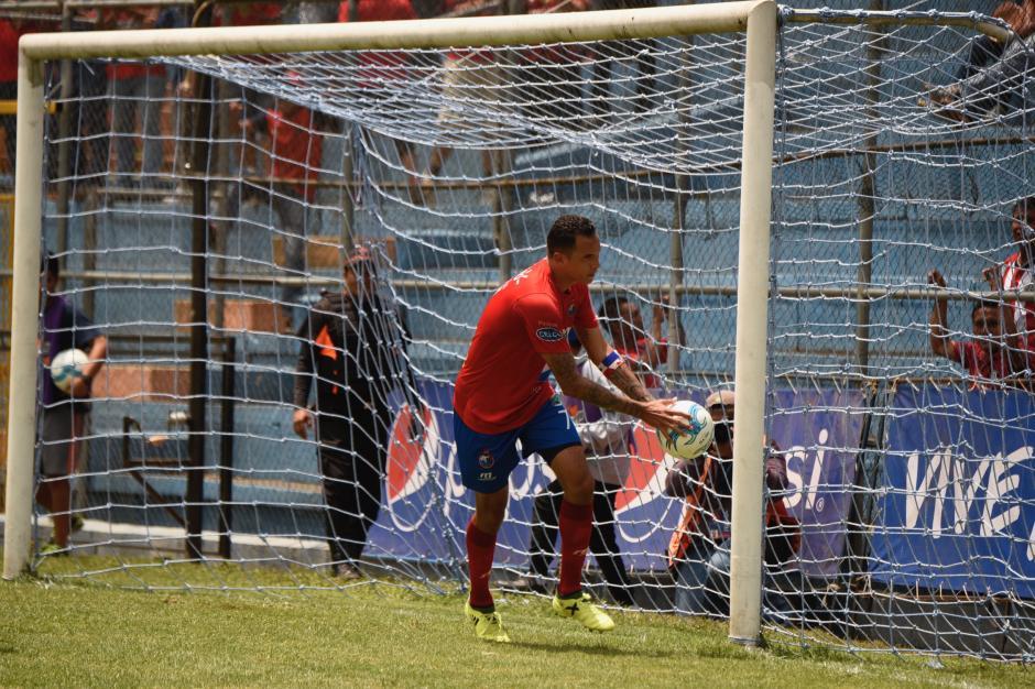 Pérez marcó su segundo gol del torneo guatemalteco. (Foto: Nuestro Diario)