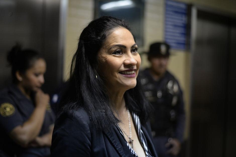 """Marixa Lemus """"La Patrona"""" llegó a los tribunales para una audiencia. (Foto: Wilder López/Soy502)"""