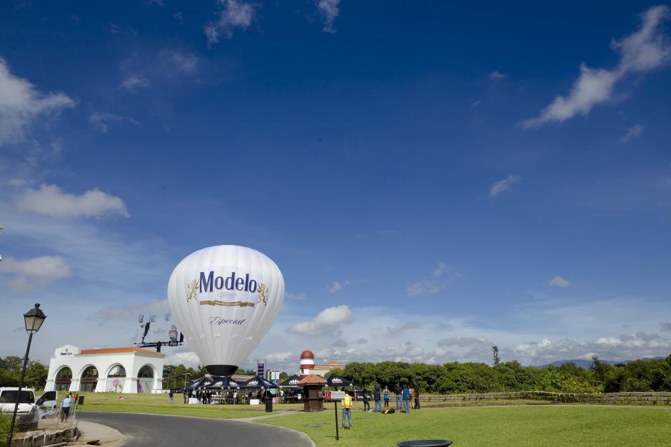El globo aerostático de Modelo estará el 9 y 10 de septiembre en ciudad de Guatemala. (Foto: George Rojas/Soy502)
