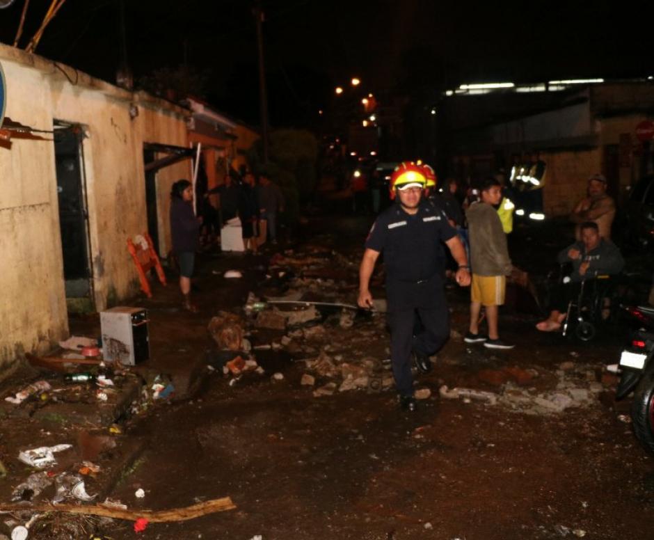 Guajitos, en zona 21, fue el lugar más afectado. (Foto: Bomberos Municipales)