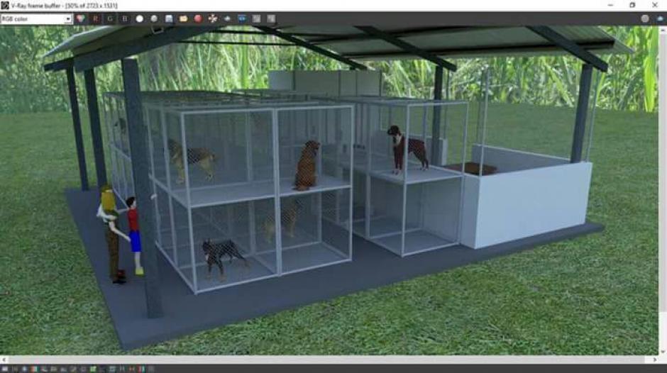 El albergue tendrá capacidad para recibir a 42 animales sin hogar. (Imagen: Municipalidad de Mixco)