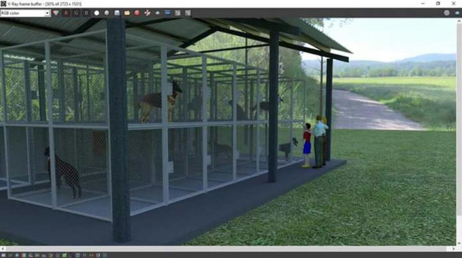 El recinto contará con áreas de limpieza y recreación de los animales. (Imagen: Municipalidad de Mixco)