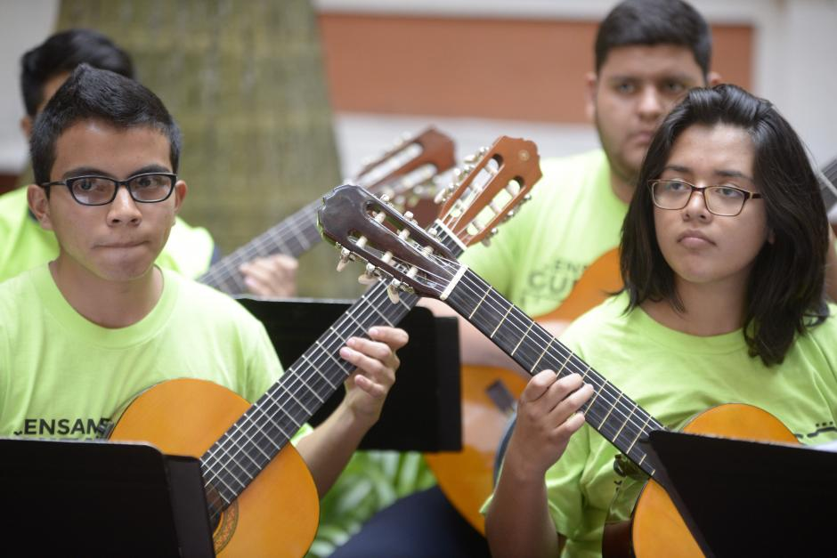 Su talento es valorado en la Escuela Municipal de Música. (Foto: Wilder López/Soy502)