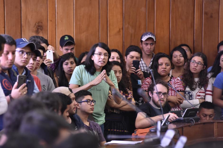 Los líderes estudiantiles pidieron la destitución de tres integrantes del CSU. (Foto: Anyelo García/Nuestro Diario)