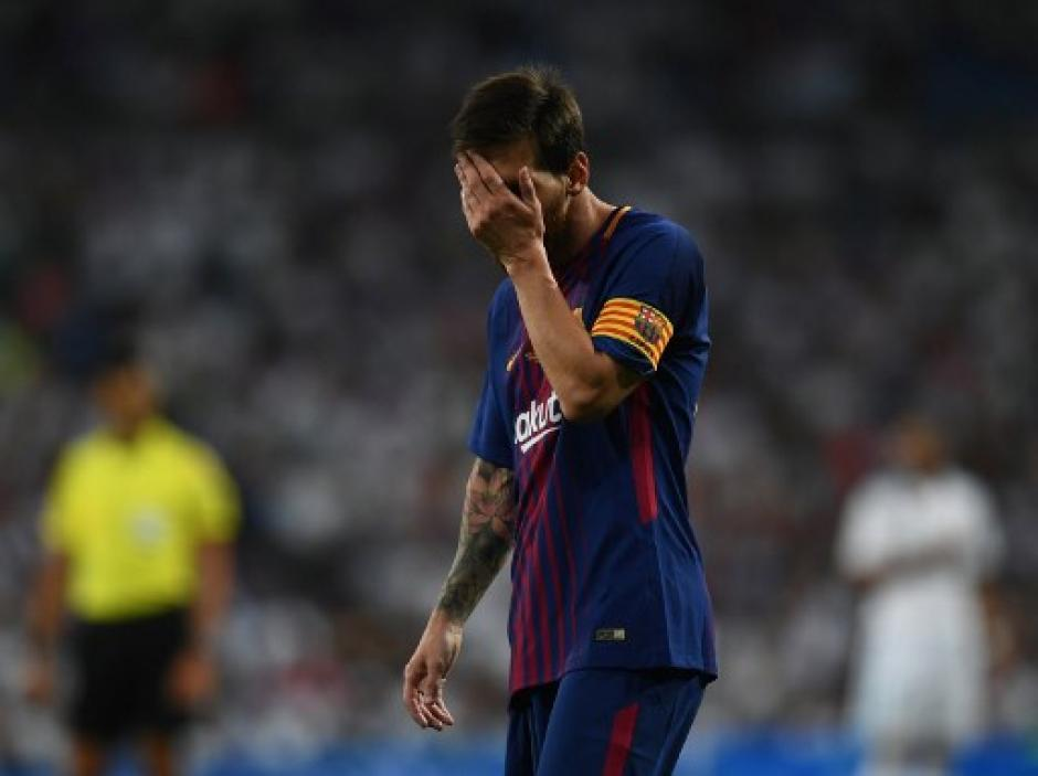 Lionel Messi y sus compañeros de Barcelona fueron humillados por el Real Madrid. (Foto: AFP)