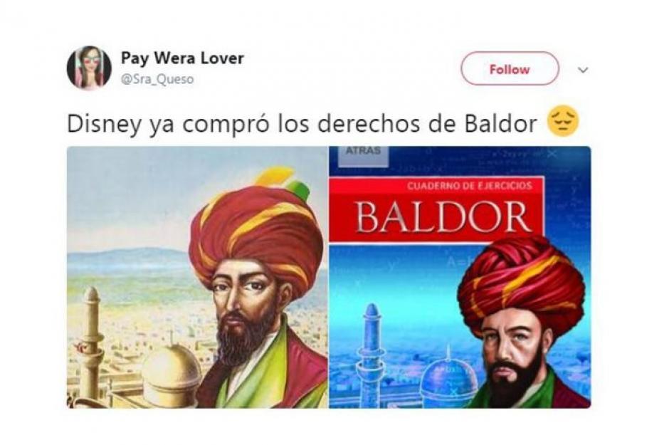 Disney compró los derecho del Álgebra de Baldor. (Foto: Twitter)