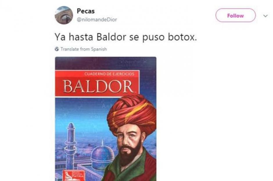 Baldor se inyectó botox. (Foto: Twitter)