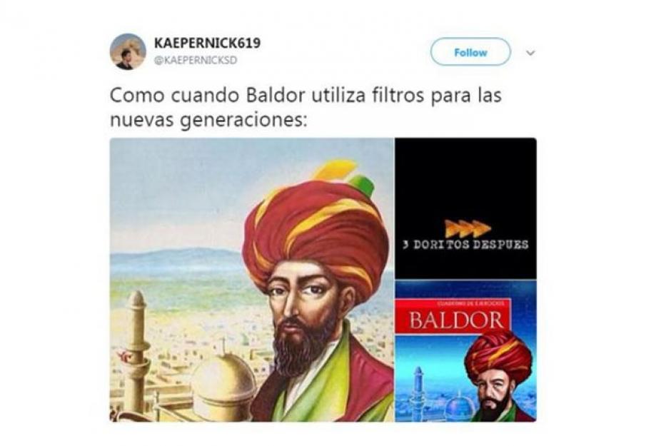 Baldor tres doritos después. (Foto: Twitter)