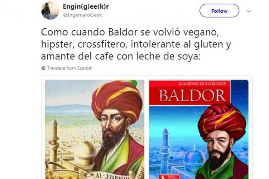 Los memes se divierte con la nueva portada del Álgebra de Baldor. (Foto: Twitter)