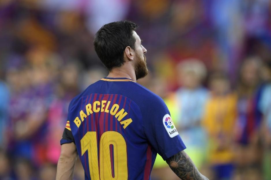 En la parte trasera se leía Barcelona. (Foto: AFP)