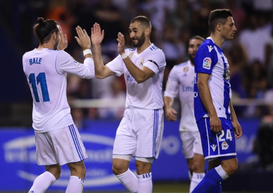 El equipo merengue no tuvo problemas para vencer al Deportivo La Coruña. (Foto: AFP)