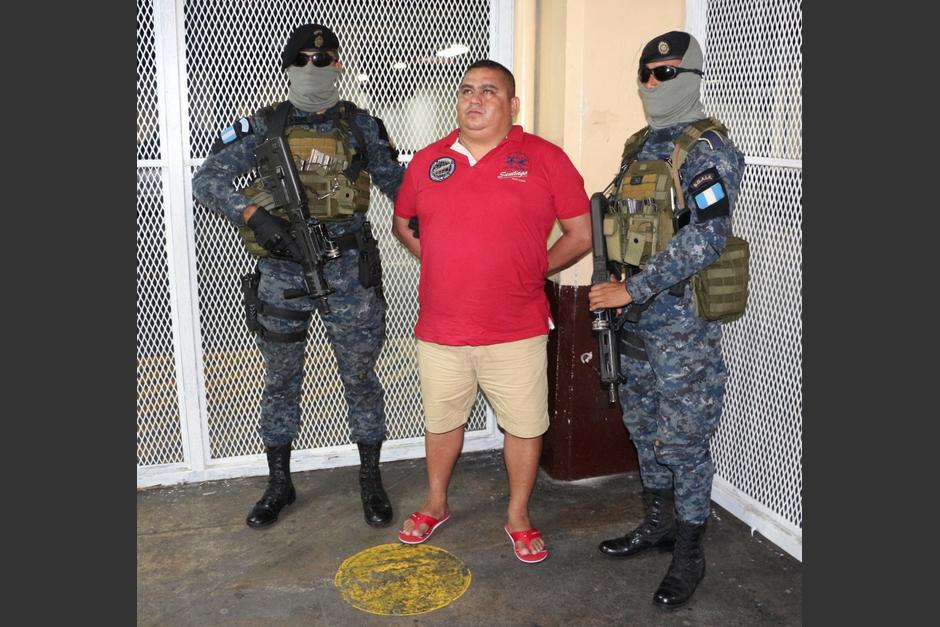 """Capturan en Escuintla al """"Rey del Mar"""" acusado de narcotráfico. (Foto: PNC)"""