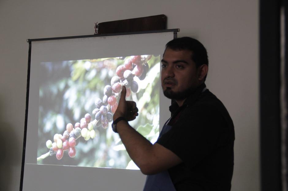 Representantes de Anacafé compartieron sus conocimientos con los caficultores. (Foto: Fredy Hernández/Soy502)