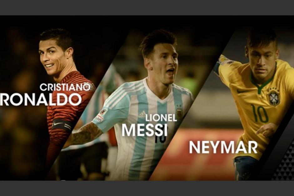 Cristiano Ronaldo, Lionel Messi y Neymar por el premio The Best foto