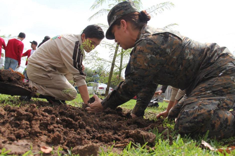 Elementos del Ejército de Guatemala también participaron. (Foto: Jesús Alfonso/Soy502)
