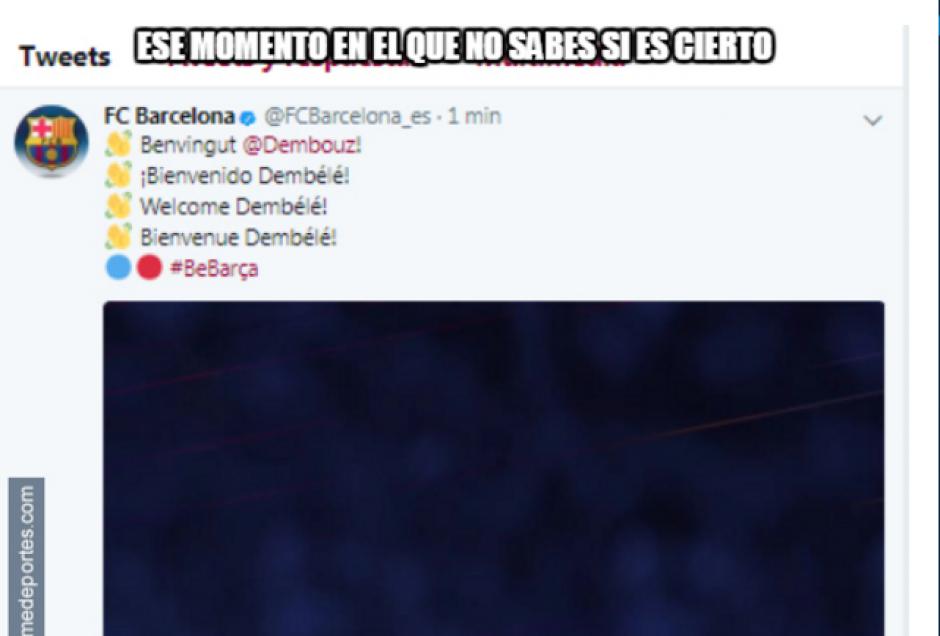 Esta semana hackearon la cuenta del Barcelona. (Foto: MemeDeportes)