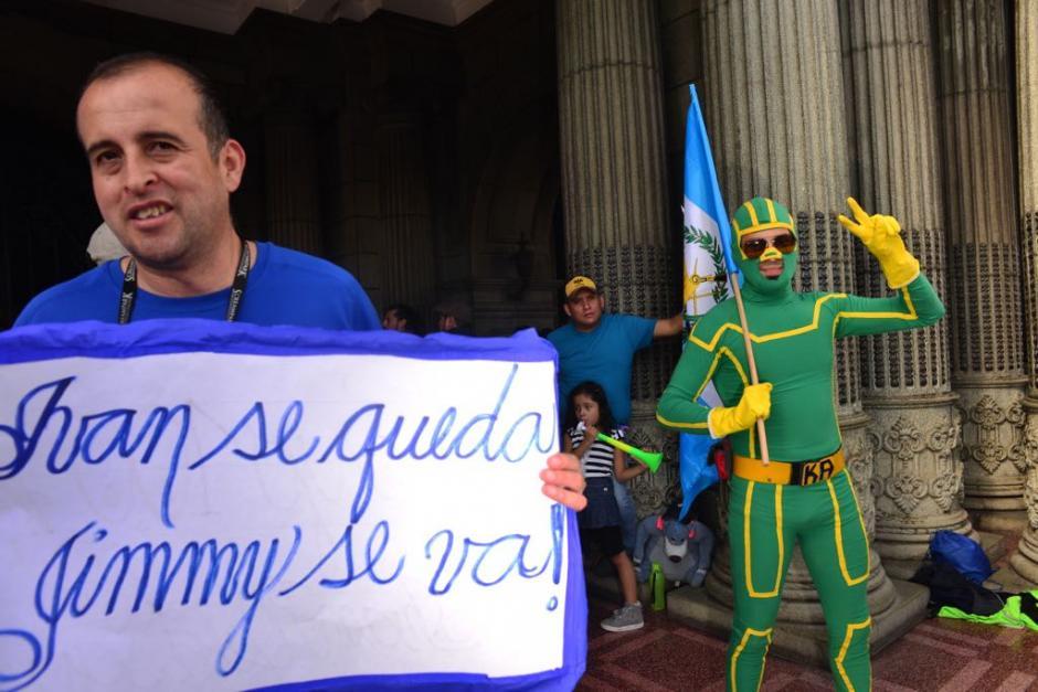 No faltaron los disfraces en la convocatoria.  (Foto: Jesús Alfonso/Soy502)