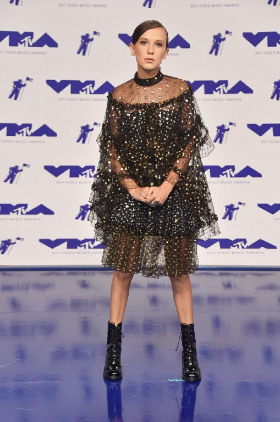 Millie Bobby Brown en los Video Music Awards 2017. (Foto: AFP)