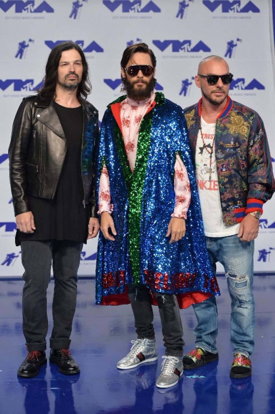 Therty Seconds to Mars en los Video Music Awards 2017. (Foto: AFP)
